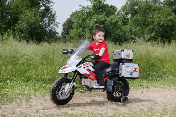 ducati hypercross elektromotorrad spielfahrzeug in betrieb
