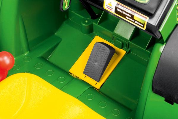 john deere gator hpx 6x4 spielfahrzeug elektrofahrzeug detail pedal