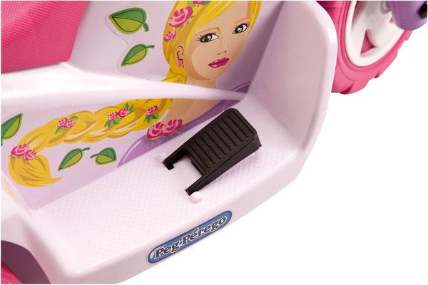 mini princess elektromotorrad spielfahrzeug detail pedal