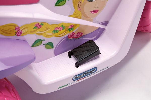 raider princess elektromotorrad spielfahrzeug detail pedal