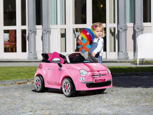 fiat 500 star pink spielfahrzeug elektroauto in betrieb