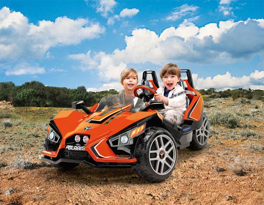 polaris slingshot quad 12v spielfahrzeug elektrofahrzeug in betrieb