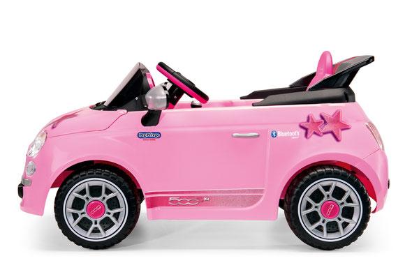 fiat 500 star pink spielfahrzeug elektroauto seite