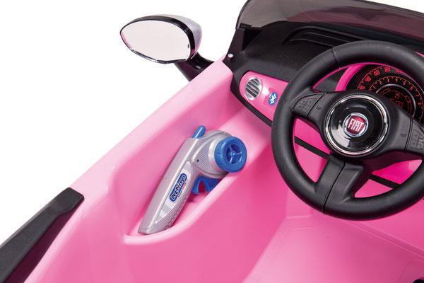 fiat 500 star pink spielfahrzeug elektroauto detail innen