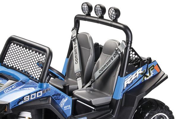 polaris ranger rzr 900 blu quad elektrofahrzeug spielfahrzeug detail sitze