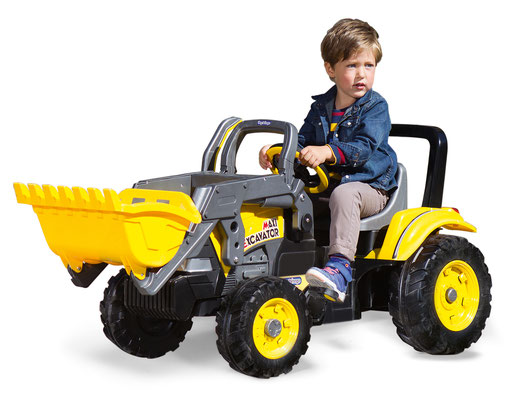 maxi excavator tretfahrzeug spielfahrzeug bagger in betrieb