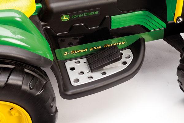 john deere ground loader  spielfahrzeug elektrofahrzeug detail pedal