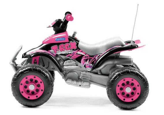 corral t-rex pink quad elektrofahrzeug spielfahrzeug seite