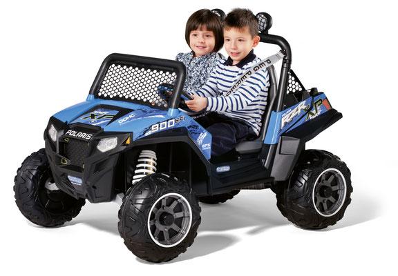 polaris ranger rzr 900 blu quad elektrofahrzeug spielfahrzeug in betrieb