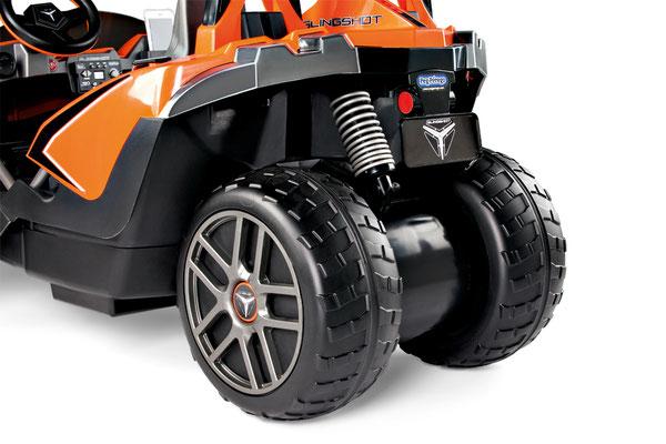 polaris slingshot quad 12v spielfahrzeug elektrofahrzeug detail hinterräder