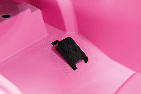 fiat 500 star pink spielfahrzeug elektroauto detail pedal