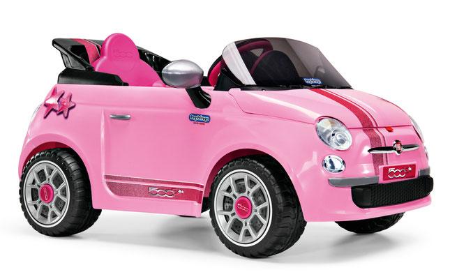 fiat 500 star pink spielfahrzeug elektroauto profil