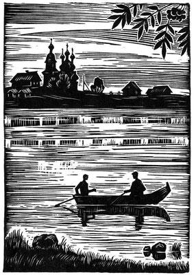 18. Иллюстрация к кн. стихов Н.Журавлева, Архангельск 1983
