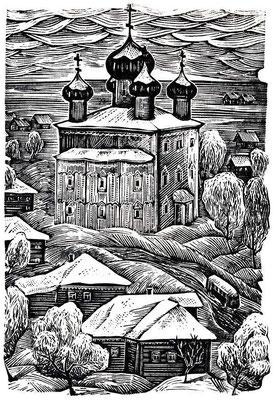 6. Зимка, линогравюра, 1980