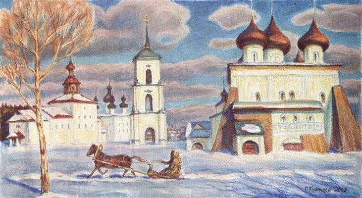 11. В древнем городе, б.пастель 29х54, 2002