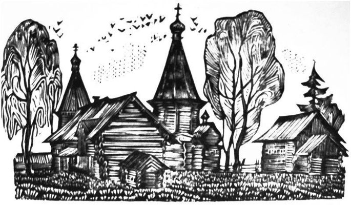 5. Осеннее Саунино, б.фломастер, 1973