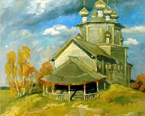 4. Богоявленская церковь в Лядинах, к.м. 49х60, 1980