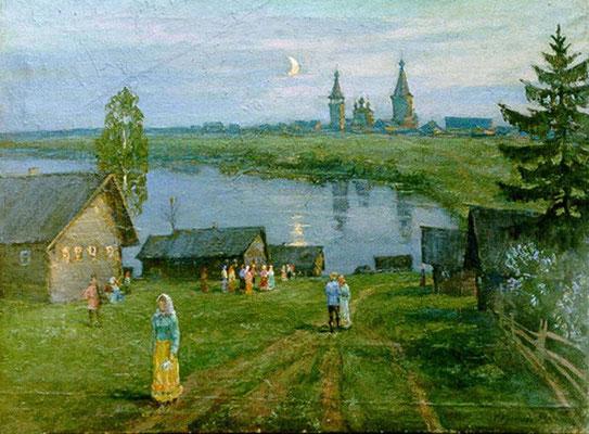 14. Праздник в деревне, х.м. 60х81, 1998