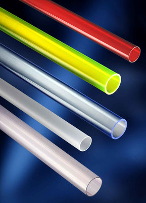 ATHEX tubes made of colored PMMA