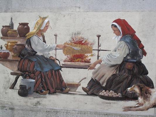 Fabrication du gâteau à la broche