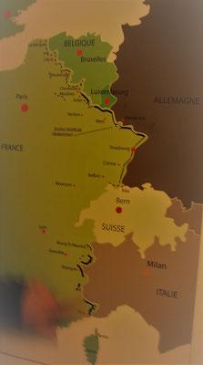 Karte Maginot Linie Frankreich