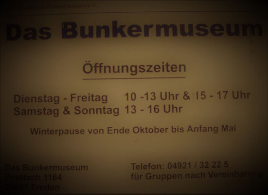 Das Bunkermuseum Öffnungszeiten - orario apertura museo Bunker