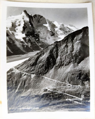 Frontwand Großglockner mit Gletscherzunge
