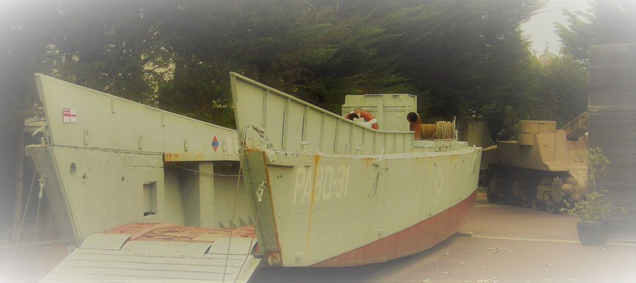 Landing boat Normandy