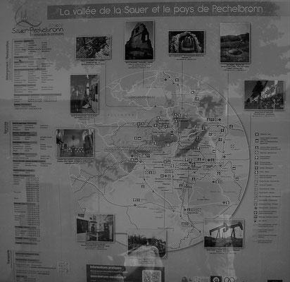 Karte Elsass map - mappa aslezia