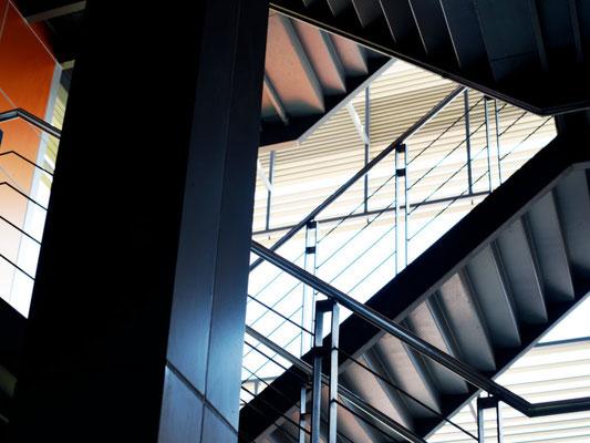 Ein fertige Treppenkonstruktion der 3B Denkmalpflege & Bausanierung GmbH