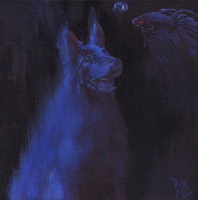 """""""La Noche"""" Acrylic on Canvas"""