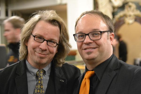 Brass Band WBI - Kantor Oliver Schmidt und Dirigent Timo Hänf