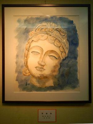 「菩薩像」塩谷和子 水彩