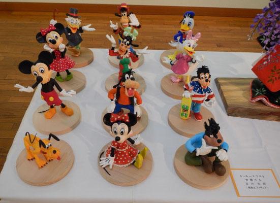 「ミッキーマウスと仲間たち」古川光昭 紙粘土人形