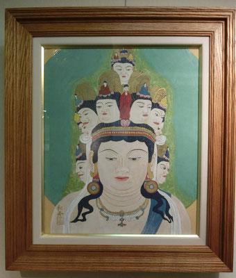 十一面観音(日本画)本多和芳