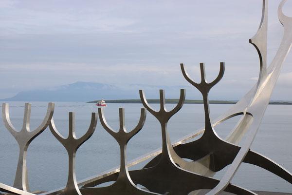 Le Solfar, Voyageur du Soleil, à Reykjavik en Islande