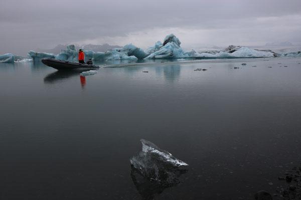 Lagune glaciaire de Jökulsarlon dans le parc national de Skaftafell en Islande