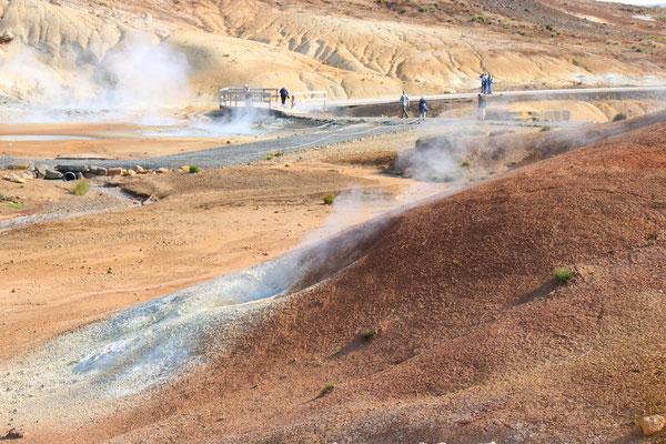 Champ géothermique de Seltun dans la péninsule de Reykjanes en Islande