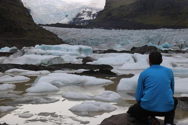 Glacier Svinafellsjökull dans le parc national de Skaftafell en Islande