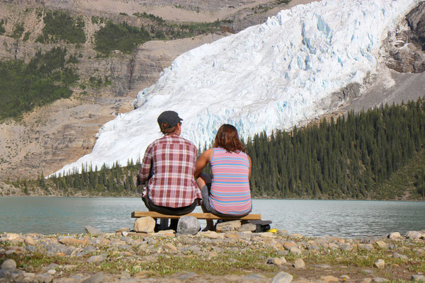 Berg Lake sur le Berg Lake Trail dans le Mount Robson Provincial Park (Colombie-Britannique - Canada)