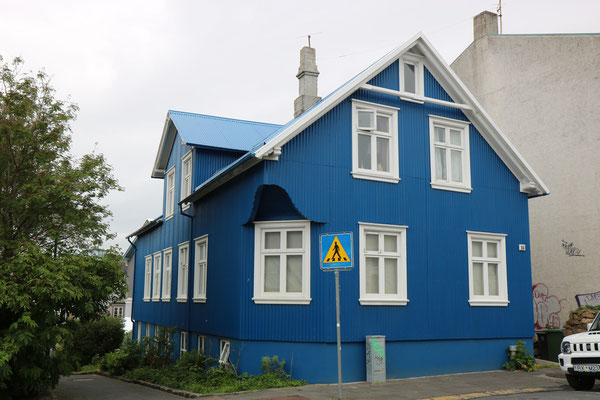 Maison de Reykjavik en Islande