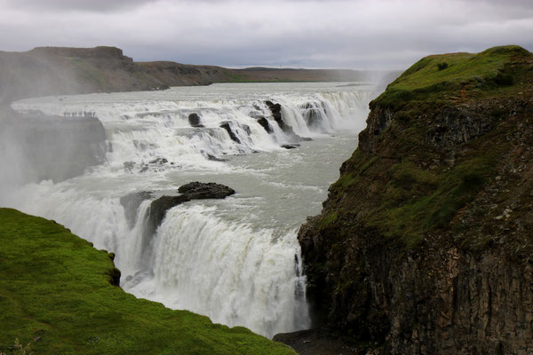 Cascade de Gullfoss dans le Cercle d'Or en Islande