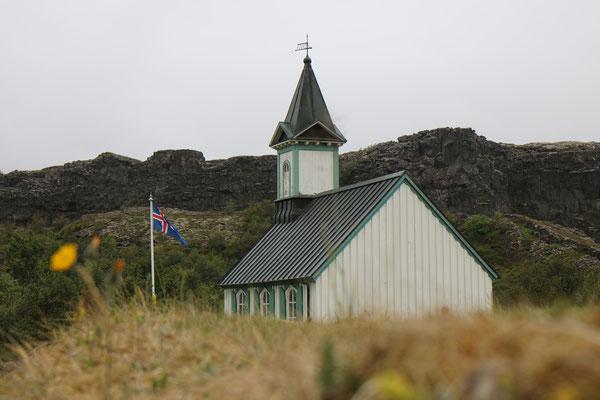 Thingvallakirkja dans le Cercle d'Or en Islande