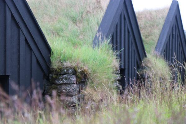 Le petit hameau de Keldur près de Hella en Islande