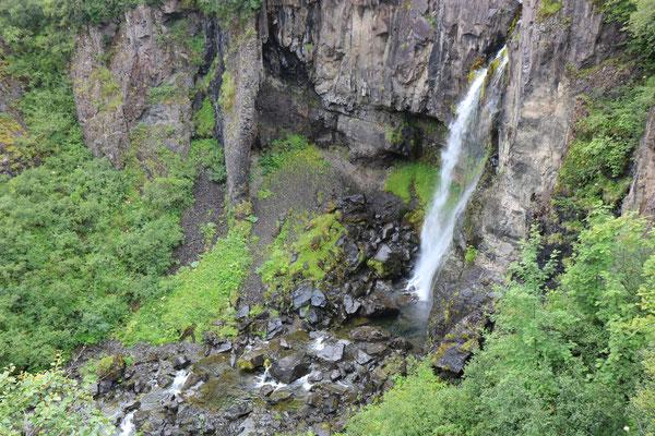 Cascade de Hundafoss dans le parc national de Skaftafell en Islande