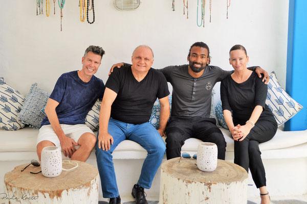 Ron King, Paule Knete, Drew Vision, Classy Dubai (from left)