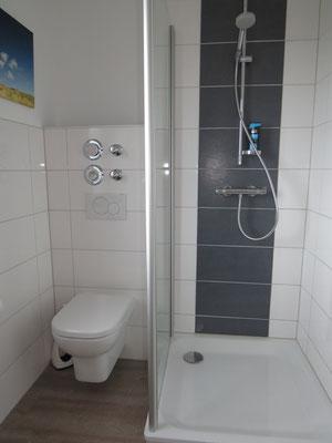 """4 Sterne Ferienwohnung """"Wattstube"""" - WC und Dusche"""