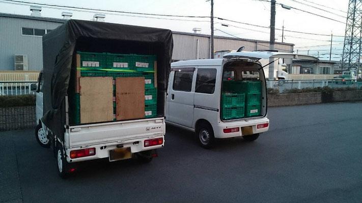 野菜や果物などの農産物もラクラク積載。 農産物定番輸送