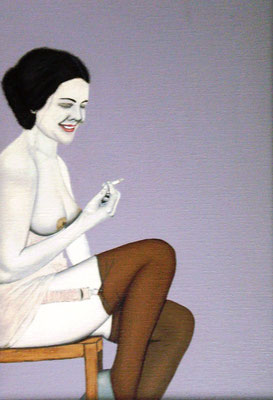 Vrouw met sigaret - Alle Jager