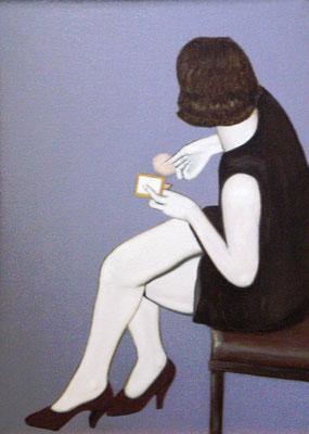 Vrouw met poederdoos - Alle Jager